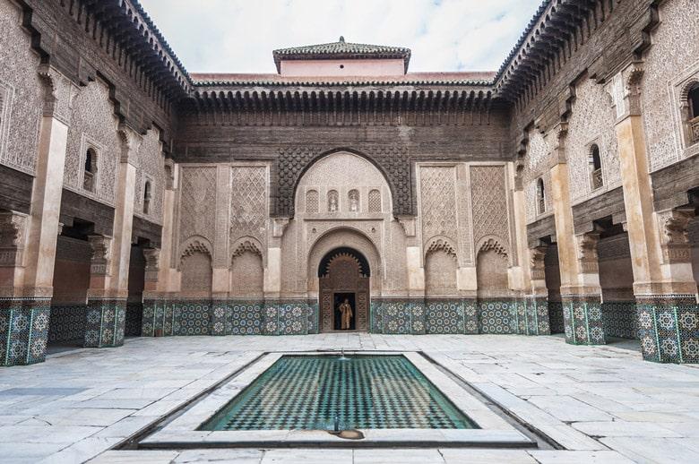 La madrassa Ben Youssef á Marrakech