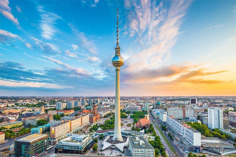 La tour de télévision berlinoise á Berlin