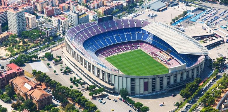 Camp Nou á Barcelone