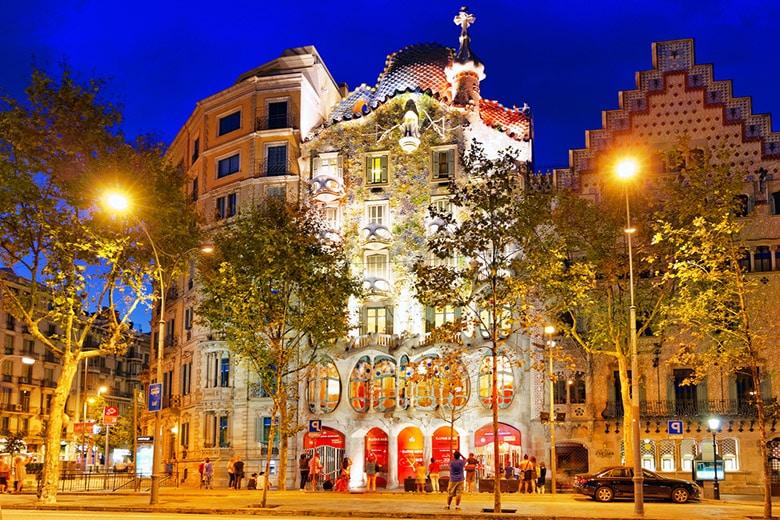 Casa Batllo á Barcelone