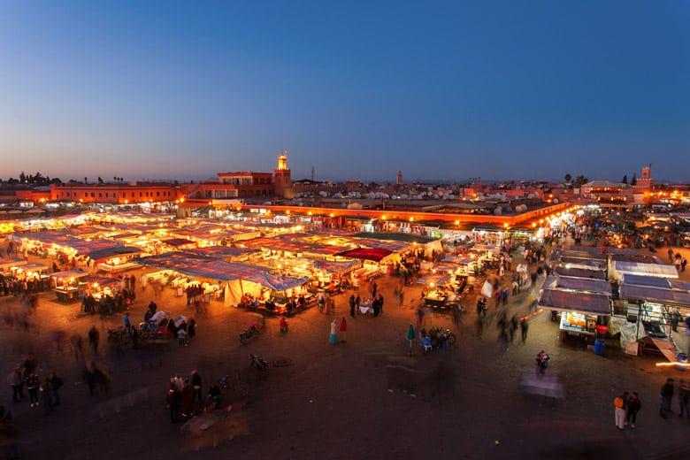 Jemaa el-Fna á Marrakech
