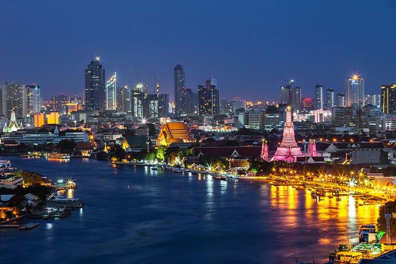 Le fleuve Chao Phraya á Bangkok