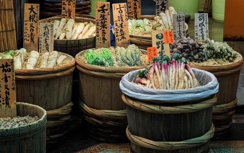 Le Marché Nishiki á Kyoto