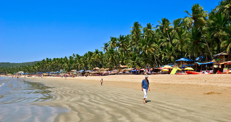 Plage de Palolem á Goa