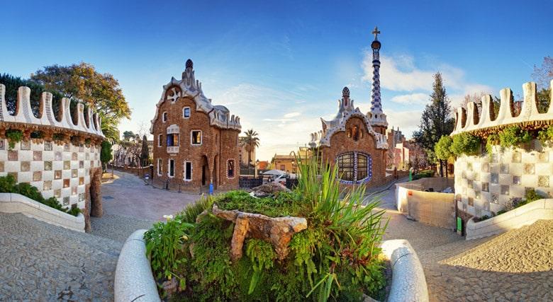 Le parc Guell á Barcelone