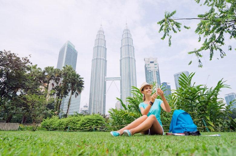 Les Tours Jumelles Petronas á Kuala Lumpur