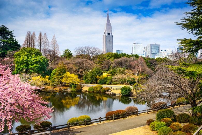 Le Jardin Impérial de Shinjuku á Tokyo