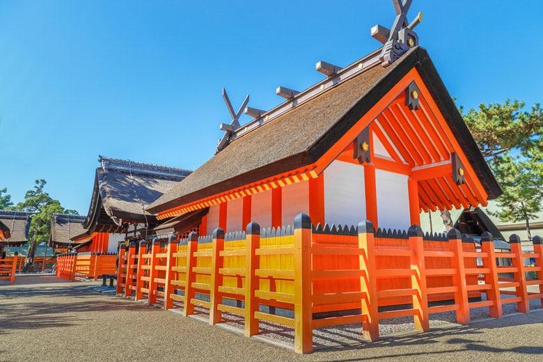 Le sanctuaire Sumiyoshi-taisha á Osaka