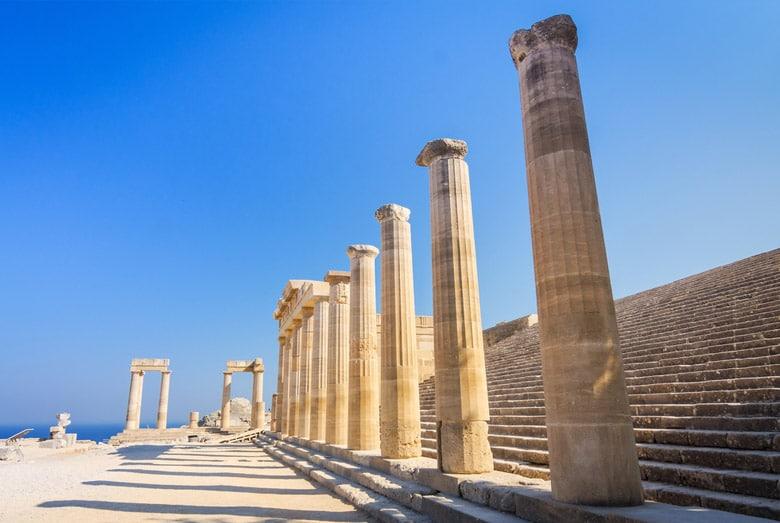 L'Acropole de Lindos á Rhodes