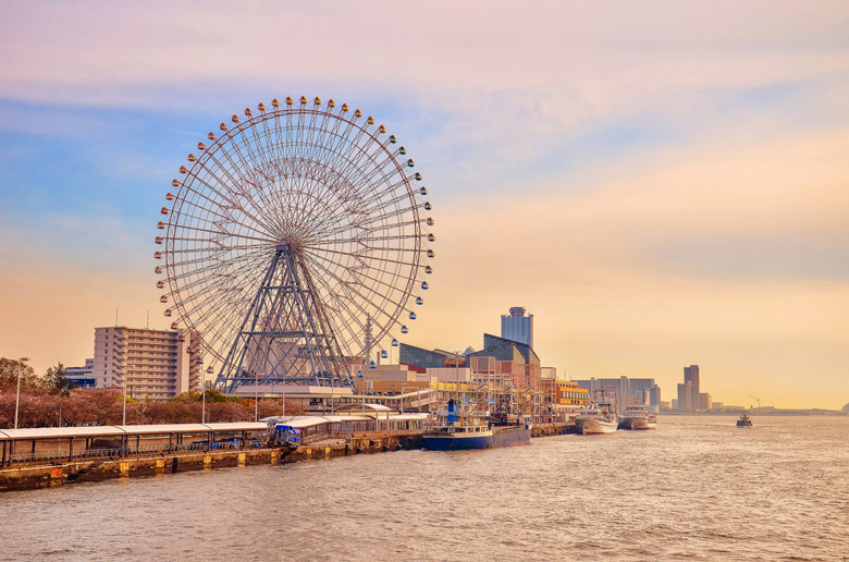 La grande roue Tempozan á Osaka