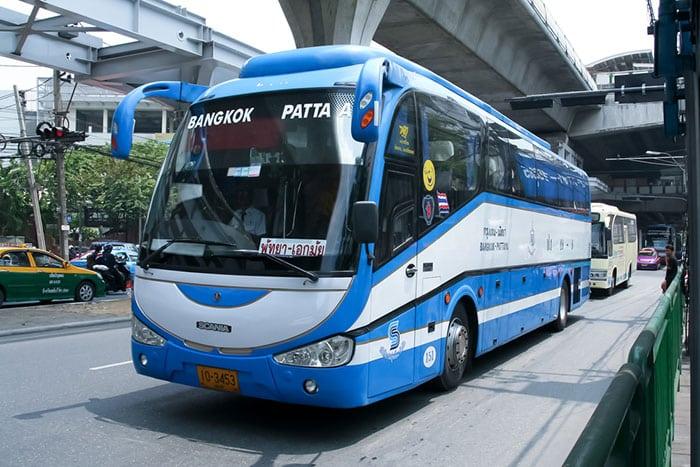 Bus à Bangkok en route vers Pattaya