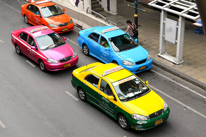 Taxi dans le centre-ville de Bangkok