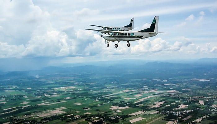 Bangkok á Hua Hin en avion