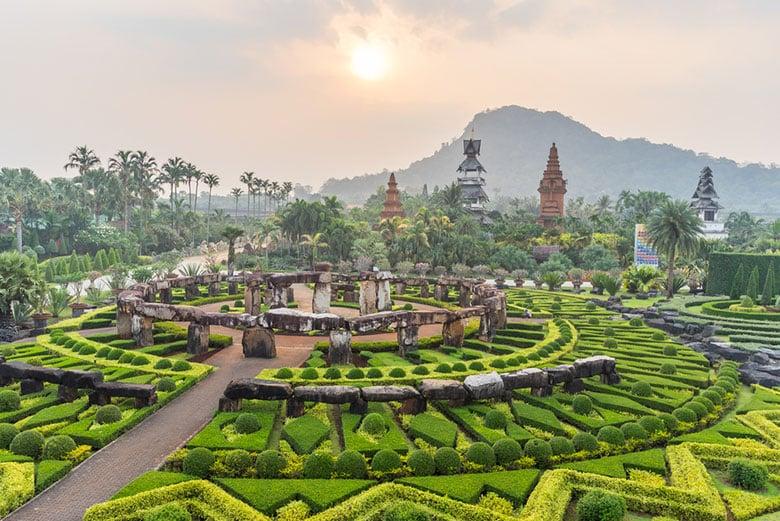 Le jardin Botanique Tropical Nong Nooch á Pattaya