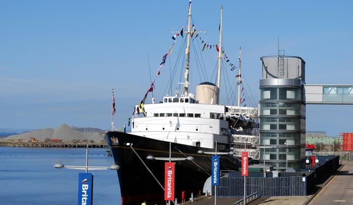 Royal Yacht Britannia á Édimbourg