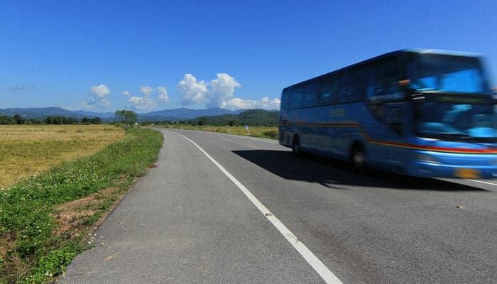 Bus public de Bangkok à Ayutthaya