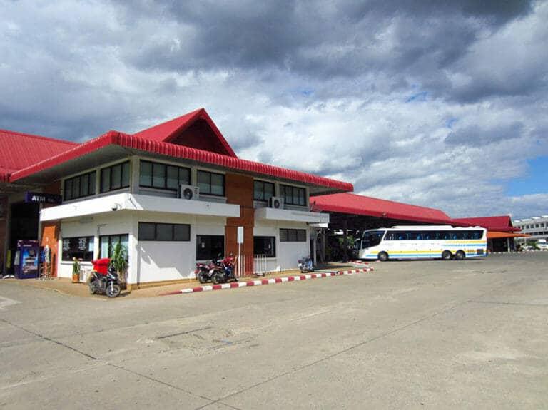 Arrivée à Chiang Rai en bus