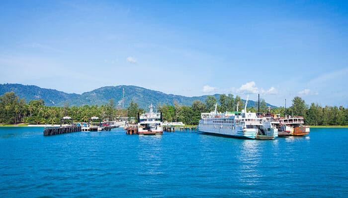 Points de départ pour le ferry de Surat Thani