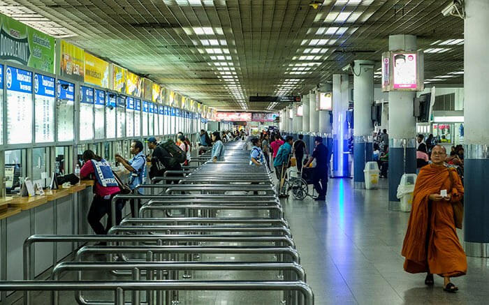 De Bangkok á Nong Khai bus terminal