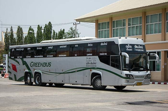 De Chiang Mai á Phuket en bus