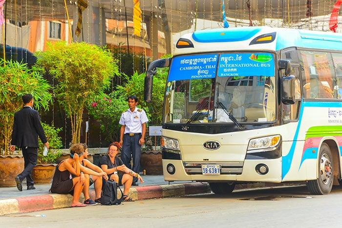 De Phnom Penh à Siem Reap en bus