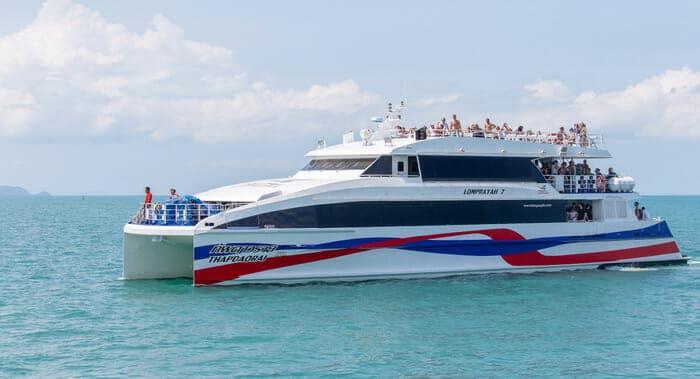 De Surat Thani á Koh Phangan en Lomprayah Ferry