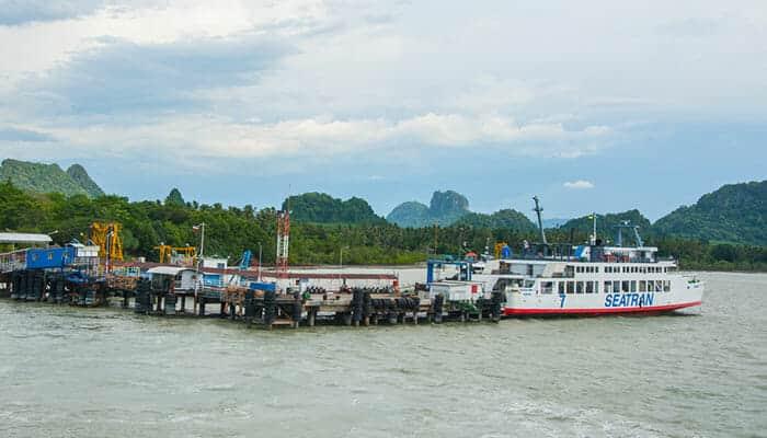 De Surat Thani á Koh Tao en Songserm en Seatran Ferry