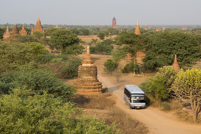 Voyage de Yangon á Bagan