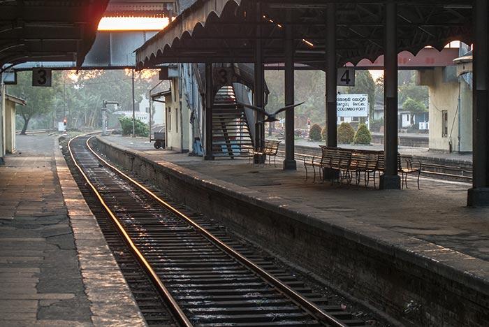 En train de Colombo à Kandy