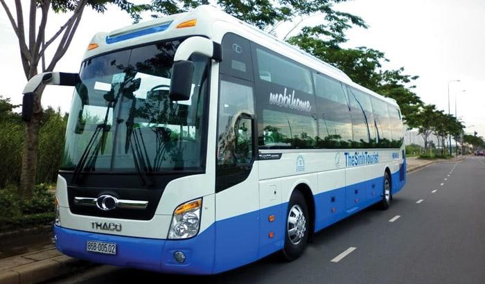 En bus de compagnie de voyage de Da Nang à Hoi An