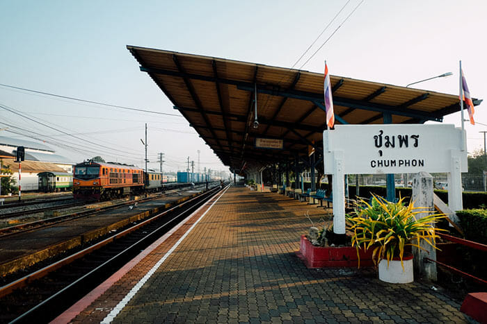 De la gare de Chumphon à Koh Tao