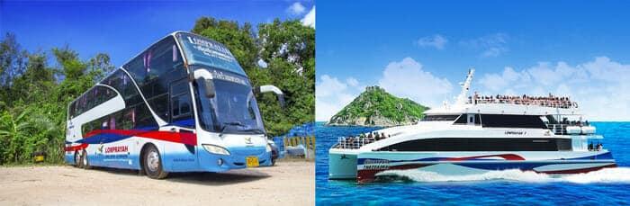 Bus et catamaran Lomprayah pour Koh Tao