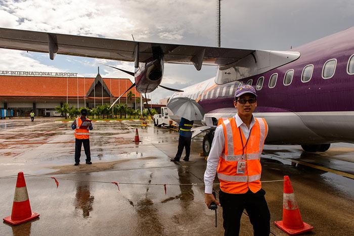 En avion de Siem Reap à Sihanoukville