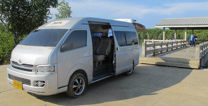 En bus, van ou taxi de Phuket à Koh Lanta