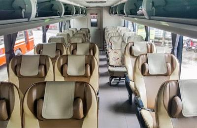 Siège dans un Green Bus VIP