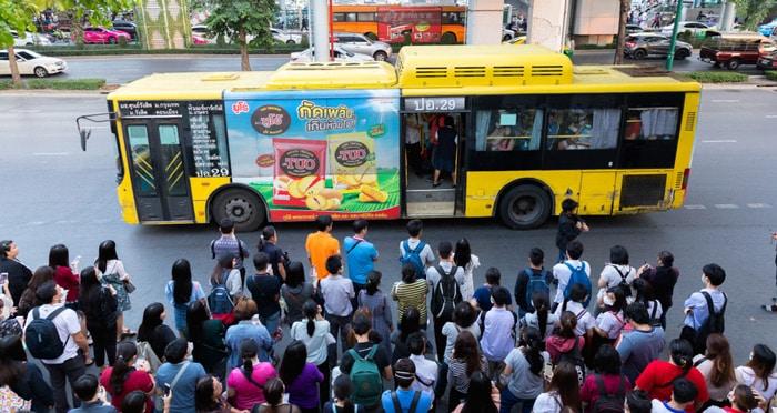 Les bus publics en Thaïlande