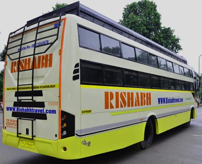 En bus de Delhi à Jaipur
