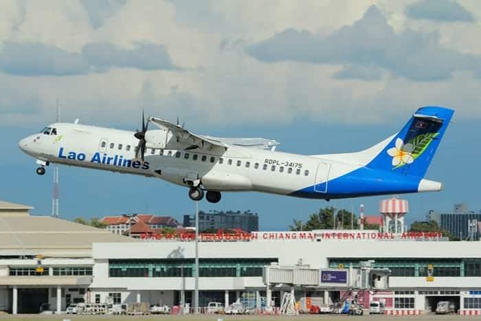 En avion de Chiang Mai à Luang Prabang