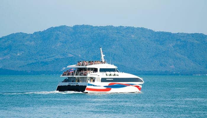 De Koh Phangan à Koh Tao à bord d'un catamaran grande vitesse Lomprayah