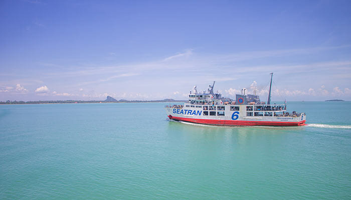 De Koh Phangan à Koh Tao à bord d'un ferry grande vitesse Seatran Discovery