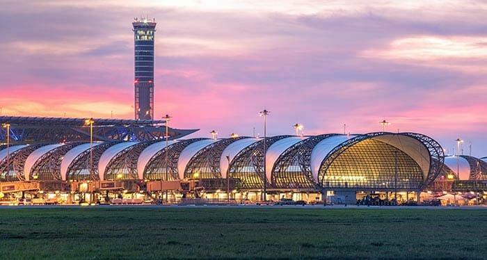 En avion de Chiang Mai à Bangkok