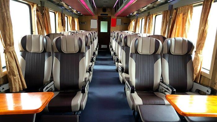 Les différentes classes de trains au Vietnam