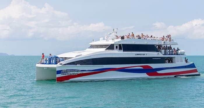 De Koh Phangan à Koh Samui en ferry rapide