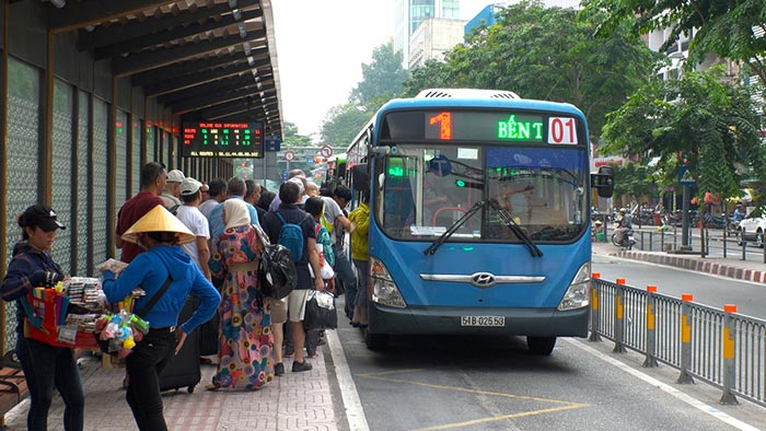 Les bus locaux au Vietnam