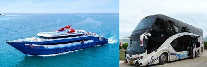 De Bangkok à Koh Phi Phi en bus et ferry