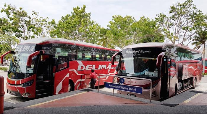 En bus de Kuala Lumpur à Malacca