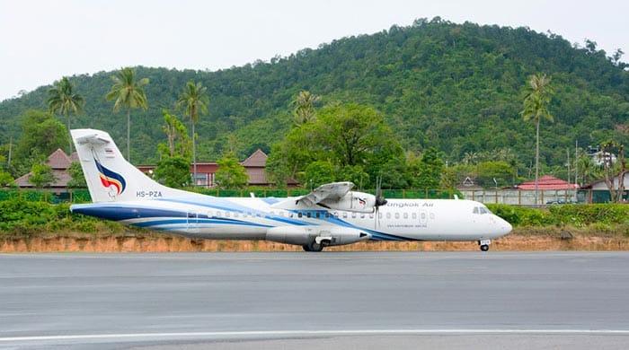 En avion de Krabi à Koh Tao