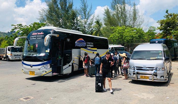 En bus de Krabi à Surat Thani