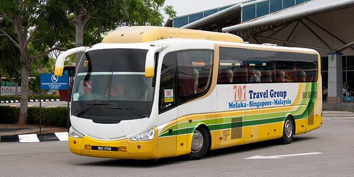 En bus de Singapour à Malacca