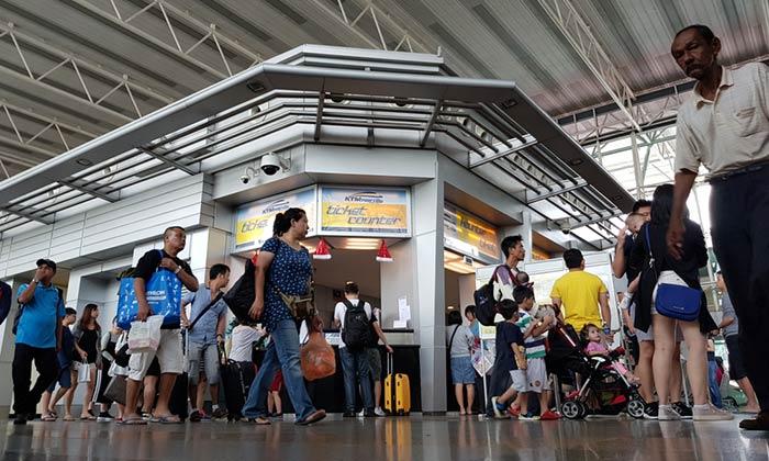 En train de Singapour à Malacca